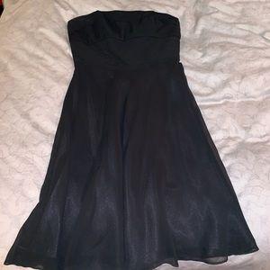 White House Black Market pleated strapless dress